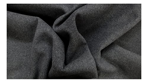 Fabrics-City grigio morbido cappotto di facile manutenzione Tessuto like-wool tessuto tessuti al metro, 3390