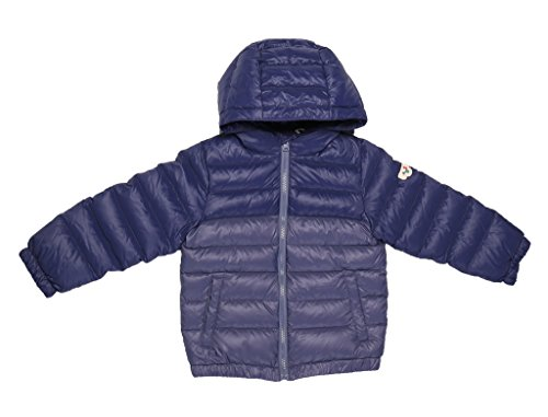 Oceankids Blu Navy Giubbotto leggero imbottito in piuma d'oca con cappuccio e cerniera YKK, da bambino 12-18 Mesi