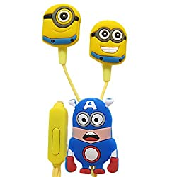 Techwich Despicable Me Minions Style 3.5mm Plug in-Ear Earphone with Mic (with extra earbuds)
