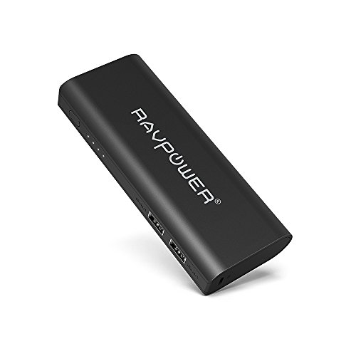Portable Charger RAVPower 13400mAh External Battery Pack (4.5A, Dual USB) with iSmart Technology Power Bank for iPad iPhone Smartphones and Tablets Black