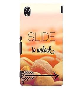Omnam Apple Wallpaper Slide To Unlock Theme Designer Back Cover Case for Sony Xperia M4