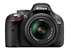 Nikon D5200 24.1MP Digital SLR Camera (Black) with AF-S 18-55mm VRII Lens and AF-S DX VR Zoom-NIKKOR 55-200mm f/4-5.6G IF-ED Twin Lens 8GB Card, Camera Bag