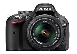 Nikon D5200 24.1MP Digital SLR Camera (Black) with AF-S 18-55mm VR Lens and AF-S NIKKOR 50mm f/1.8G Twin Lens 4GB Card,Camera Bag