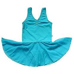BHL Girls Gymnastics Leotard 3-14 Years (8-10, Blue)