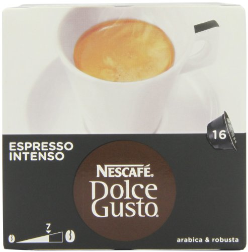 Find Nescafé Dolce Gusto Espresso Intenso 16 Capsules (Pack of 3, Total 48 Capsules) from Nestle