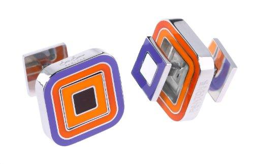 Sonia Spencer Pantone Paprika Reversible Cufflinks