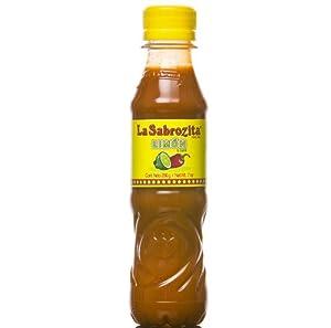 La Sabrozita Hot Sauce with Lime, 7-Ounce Bottles (Pack of 24) by La Sabrozita