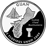 2009 P & D Mint Guam Territories Quarters Set 2 Uncirculated Coins