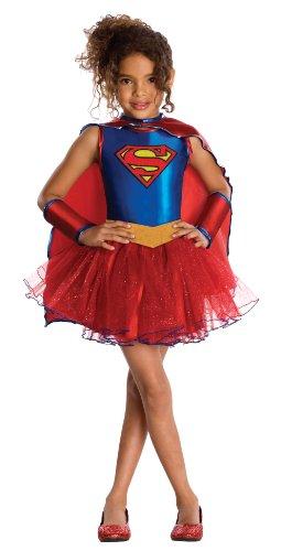 Rubie's - Costume da Supergirl Bambina, M (5-7 anni)