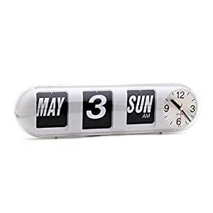 Karlsson Calendar Flip Clock - Bubble White