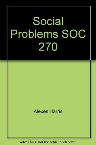 Social Problems SOC 270