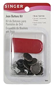 Singer Jean Buttons Kit, 8 Set with Tool