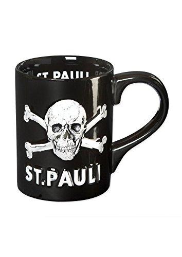 FC St. Pauli 3d teschio tazza da caffè Mug, nero, Taglia unica