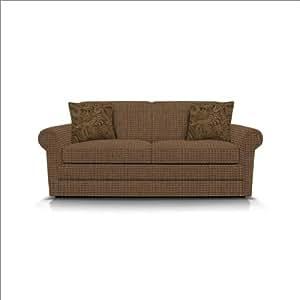 Amazon Sofa England Upholstery Savona Full Sleeper in Bonkers Cuban Fabric Outdoor And