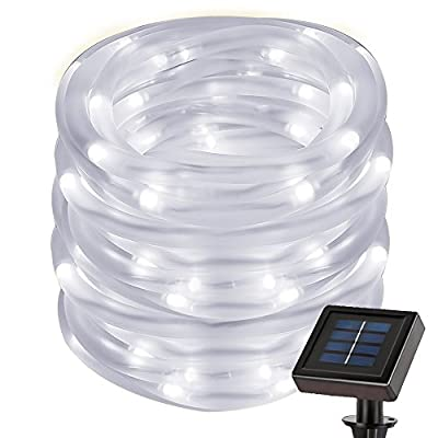 Le 5m solar light string light Necklace Light IP55Waterproof Solar Fairy String Lights 1.2V Outdoor Fairy Lights Christmas Lights Wedding Party by Lighting EVER