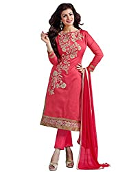 Ruaab Fashion Women Chanderi Designer Salwar Kameez Dress Material(RF_AD_388)