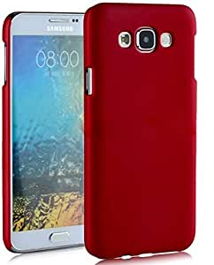 WOW Imagine(TM) Rubberised Matte Hard Case Back Cover For SAMSUNG GALAXY E7 (Maroon Wine Red)