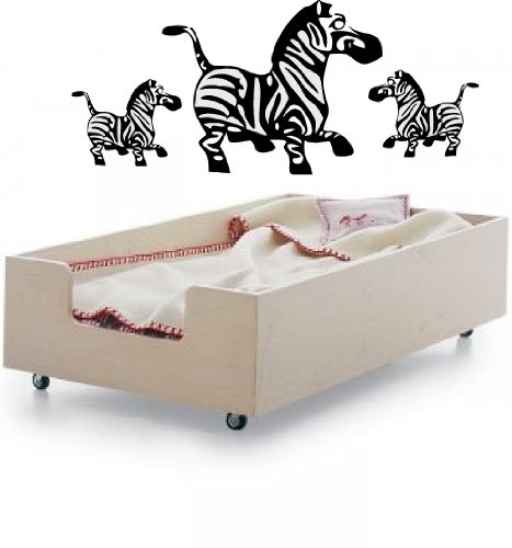 Zebra Family Vinyl Wall Decal Graphic Art Sticker