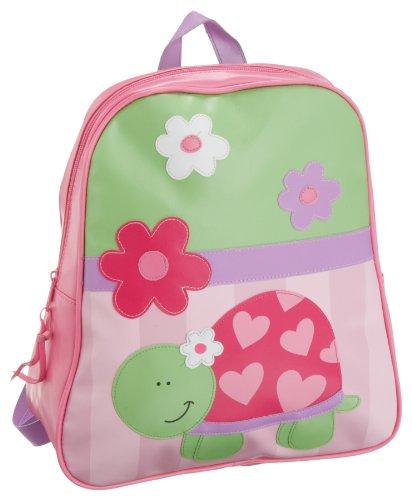 Stephen Joseph Little Girls'  Gogo Turtle Bag,Lime Green/Pink,One Size