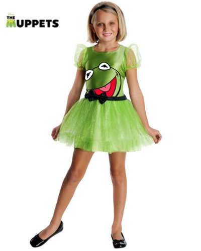 The Muppets Kermit The Frog Girls Costume