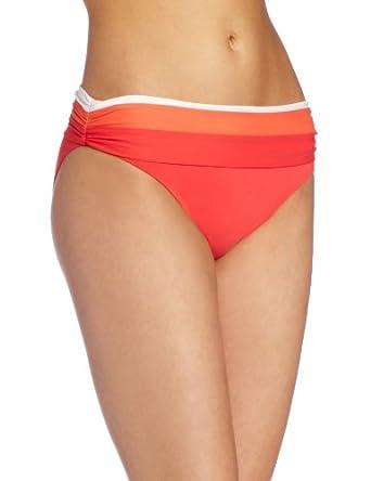 Bleu Rod Beattie Women's Block Star Shirred Hipster Pant, Coral, 8