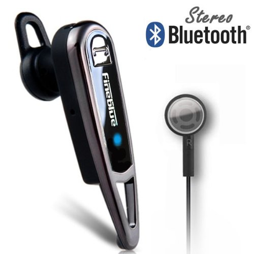 Fineblue® A2Dp Wireless Stereo Bluetooth Headset Voice+Music For Apple Iphone 5S 5C 5 4S 4 (Us Seller - 3-5 Days Delivery Guaranteed)