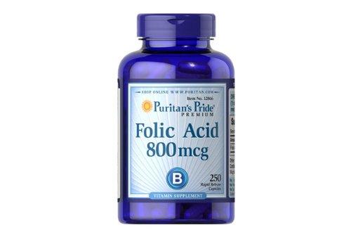 Puritan'S Pride Folic Acid 800 Mcg-250 Capsules