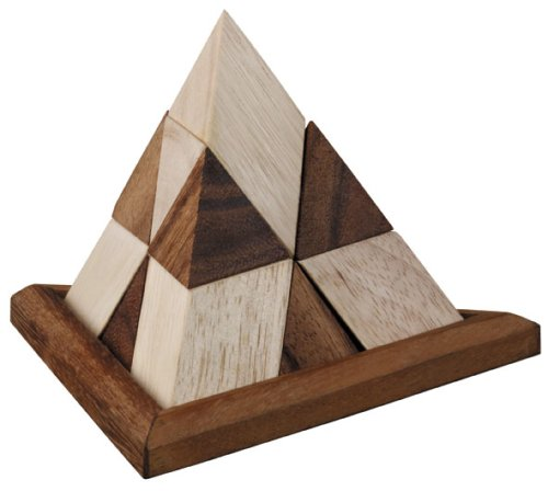 Cheap Monkey Pod Games Triangle Pyramid – 9 Puzzles to Solve (B0012MCAC6)