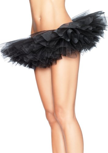 Wingler Women's Lace Tutu Corset Skirt Black