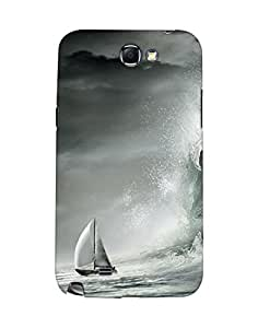 Mobifry Back case cover for Samsung Galaxy Note II N7100 Mobile (Printed design)