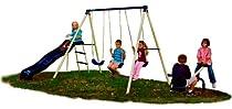 """Big Sale Best Cheap Deals Flexible Flyer """"Triple Fun""""  Swing Set"""