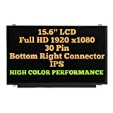 BLISSCOMPUTERS for LP156WF4-SPL2-15.6 inch FHD Matte Wide View 30Pin EDP T&B Brackets LCD Module