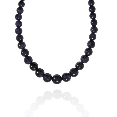 6-16mm Round Amethyst Graduated Bead Necklace, 30+2
