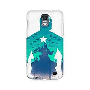 Motivatebox- Captain America Minimalist Premium Printed Case For Samsung S2 I9100/9108 -Matte Polycarbonate 3D Hard case Mobile Cell Phone Protective BACK CASE COVER. Hard Shockproof Scratch-