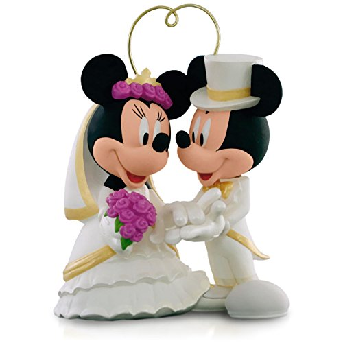 Disney Mickey Mouse and Minnie Mouse - I Do Times Two Wedding Ornament 2015 Hallmark