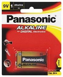 Panasonic Alkaline Battery 9V 6LR61TDG/1B