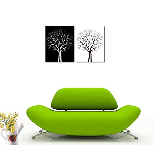 Xm Art-Lucky White Black Trees 100% Hand Painted Modern Oil Painting On Canvas Wall Art Home Decoration Canvas Art Unframe Unstretch front-1022294