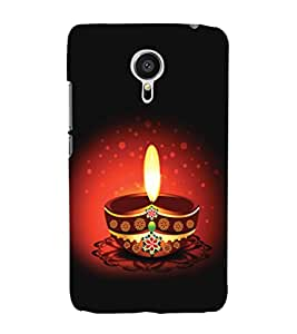 printtech Diwali Diya Back Case Cover for Meizu MX5::Meizu Mx 5