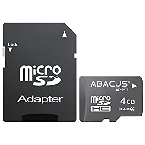 Abacus24-7 [GoCard] 4 GB Memory Card microSD with SD Adapter for Nikon 1 J3, 1 S1, Nikon CoolPix 5400, A, AW100, AW110, L110, L120, L18, L28, L310, L610, L620, L810, L820, P310, P330, P500, P510, P5100, P520, P7700, P7800, S01, S100, S1000pj, S1100pj, S1200pj, S230, S2700, S30, S3000, S31, S3300, S3500, S4000, S4100, S4200, S4300, S5200, S52c, S550, S570, S6000, S6100, S6300, S6400, S6500, S80, S8000, S800c, S8100, S8200, S9050, S9100, S920, S9300, S9500, L105