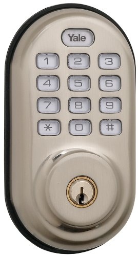 Yale Security Yrd210-Zw-619 Real Living Electronic Push Button Deadbolt, Fully Motorized With Z-Wave Technology, Satin Nickel