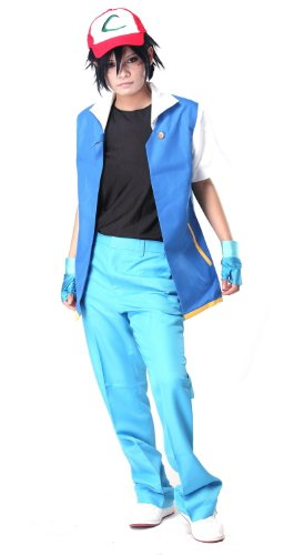 Ash Ketchum Royal Blue Cosplay Costume