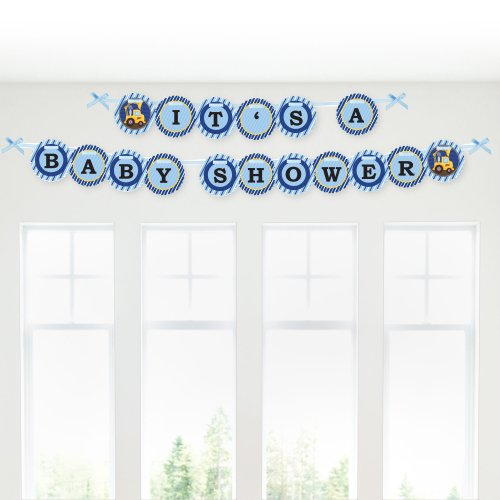 Construction Truck - Baby Shower Garland Banners front-149898