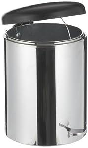 "Witt 2240SS Stainless Steel Step On Metal Biohazard Waste Container, 4gal Capacity, 11-1/2"" Diameter x 16"" Height,"