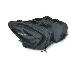 BAGSTER(バグスター) サドルバッグ SPRINT(スプリント) 21-30L ナイロン 59x13(+7)x35cm ブラック 左右2個セット 5812B