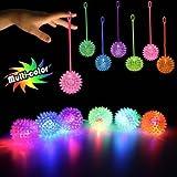 MultiColor LED Spike YoYo Balls 12 Pack