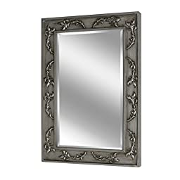 Head West Classic Scroll Antique Nickel Mirror, 26 by 38-Inch
