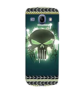 Fuson 3D Printed Skull Designer back case cover for Samsung Galaxy Core I8262 / I8260 - D4183