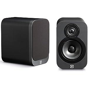 Q Acoustics 3010 Compact Bookshelf Speakers - (Pair) (Graphite)
