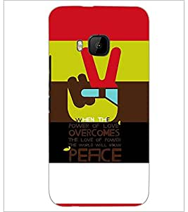 PrintDhaba Quote D-3925 Back Case Cover for HTC ONE M9S (Multi-Coloured)