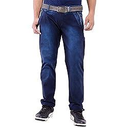 URBAN FAITH Full Length Blue Jeans for men's